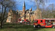 Schoorsteenbrand slaat over op dak kasteel Koude Keuken