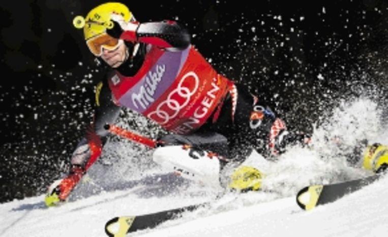 Kostelic, winnaar van de slalom in Wengen. (FOTO AFP) Beeld AFP