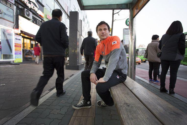 Erik Bouwman, schaatscoach in Zuid-Korea. Beeld Francois Wieringa