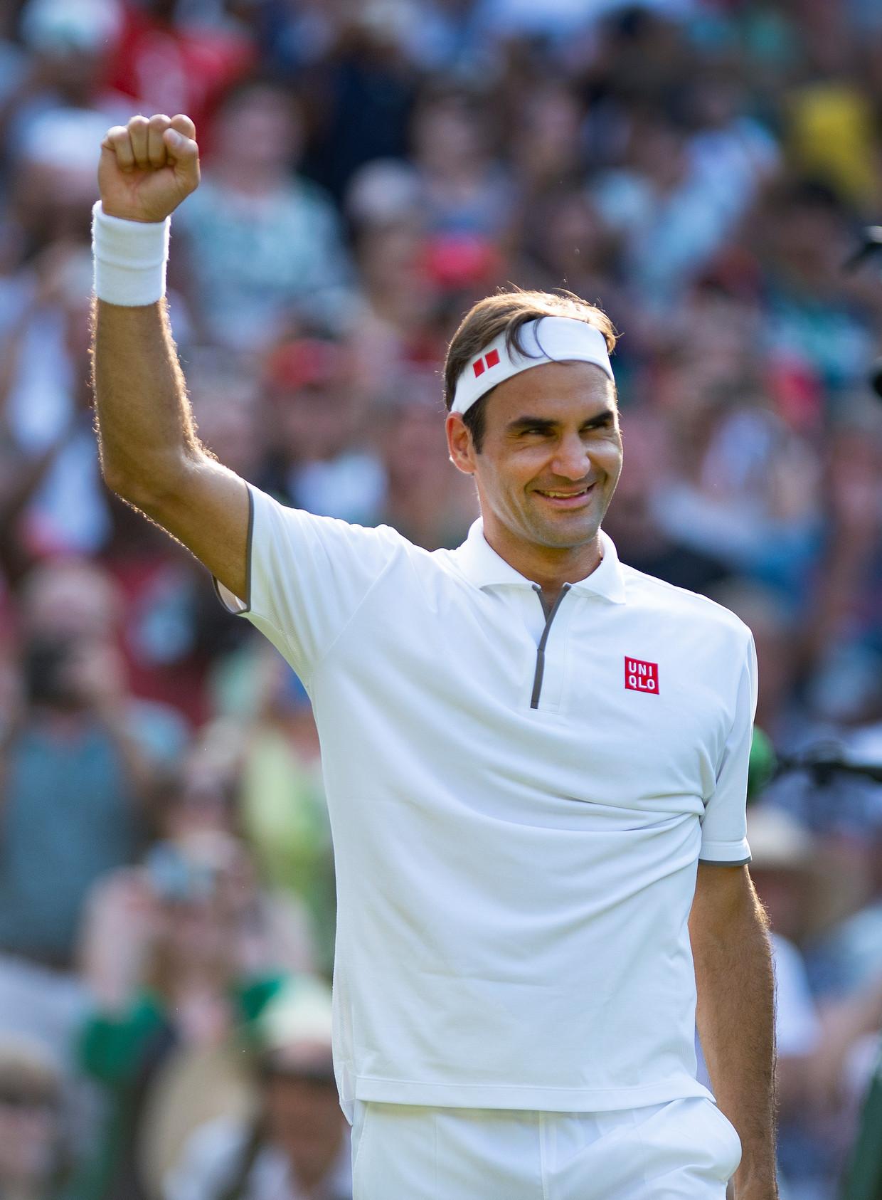 De vuist kan omhoog, Roger Federer is door naar de finale op Wimbledon.