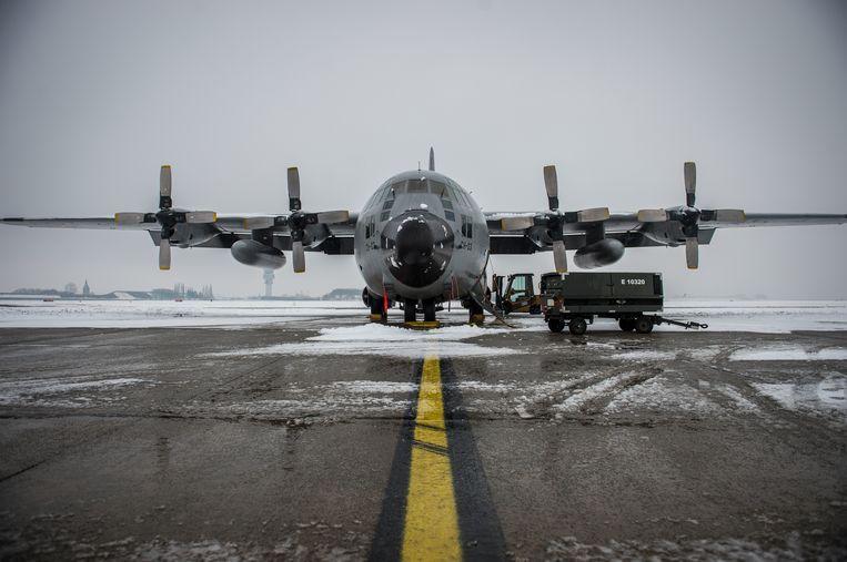 Een Belgische C-130 is deze namiddag vertrokken vanaf basis Melsbroek.