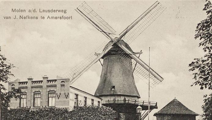 Windkorenmolen De Gunst stond tot ca. 1915 op de hoek Leusderweg/Daltonstraat.