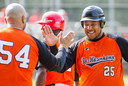 Lachende gezichten en high fives bij de honkballers van De Hazenkamp. De Nijmeegse ploeg heeft de smaak eindelijk te pakken in de eerste klasse B.