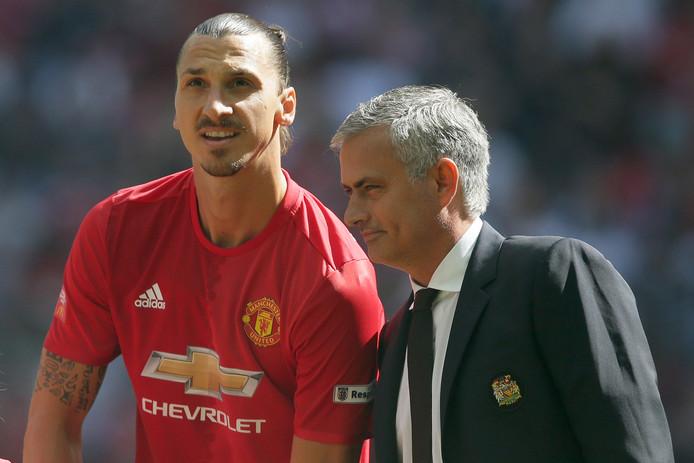 José Mourinho en Zlatan Ibrahimovic.