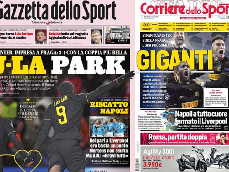 """""""Monstrueux"""": la presse italienne sous le charme de Lukaku"""