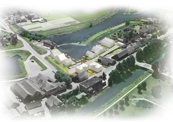 Een eerdere impressie van het nieuwbouwproject in Puttershoek.