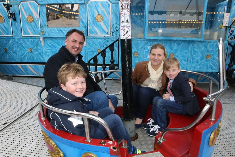 Marijn en Nathalie met hun kinderen Axel en Nanth.