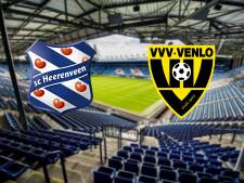Heerenveen en VVV mogen alleen bij zege nog hopen op play-offs