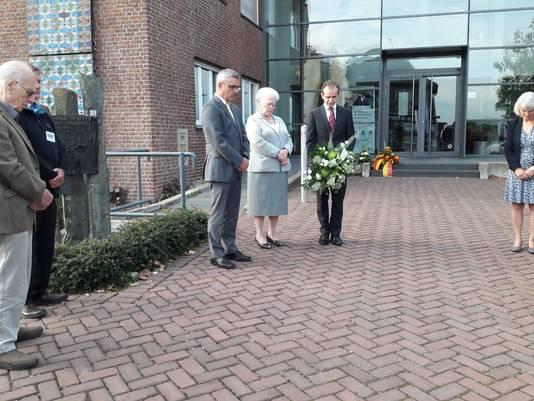 Een moment van stilte bij herdenking in Kranenburg.