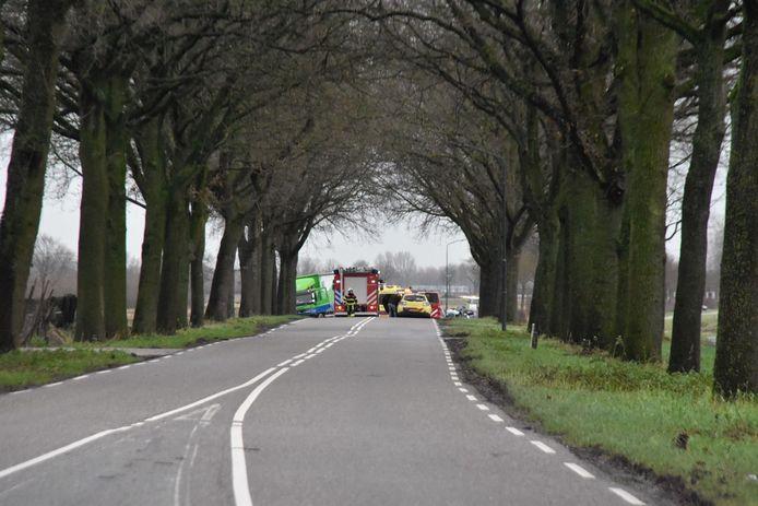 De plaats van het ongeval in Almkerk.