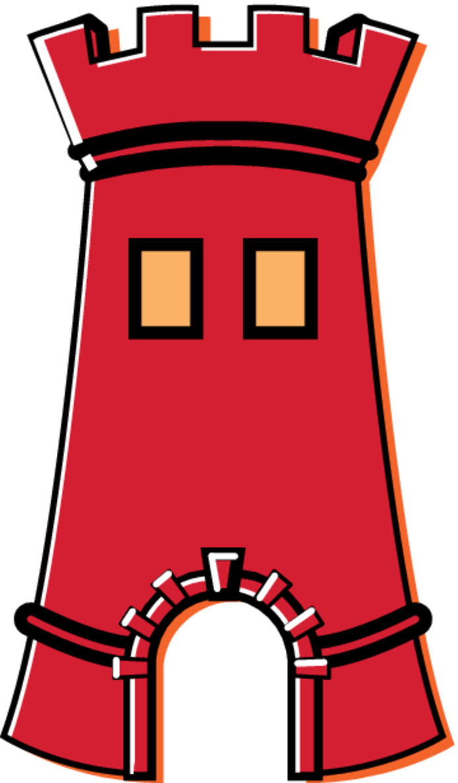 De toren van het gemeentewapen van Zevenaar.