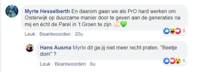 Myrte Hesselberth reageert op commotie over haar uitspraken