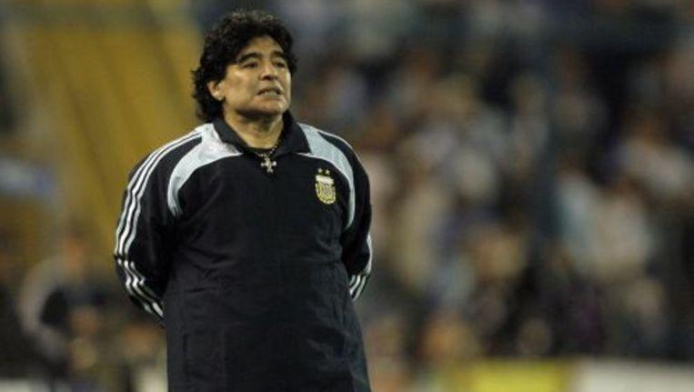 De Argentijnse bondscoach Diego Maradona. Foto ANP Beeld