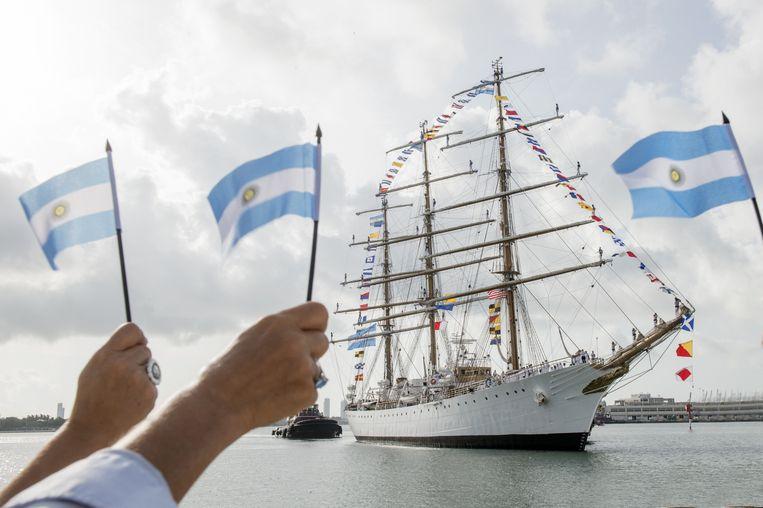 Van zaterdag 19 tot woensdagochtend 23 oktober meert de driemaster Fragata ARA Libertad aan in Antwerpen.