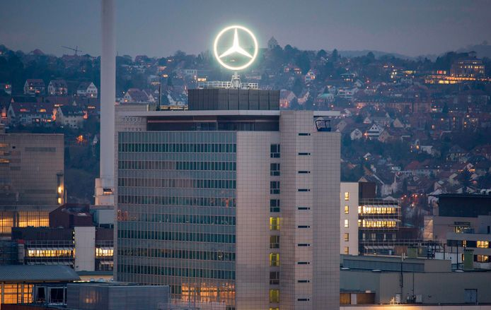 Het hoofdkwartier van Daimler in Frankfurt