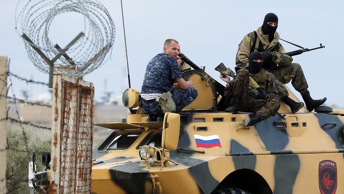 Archieffoto: commandos's van een speciale eenheid van het Russische leger.