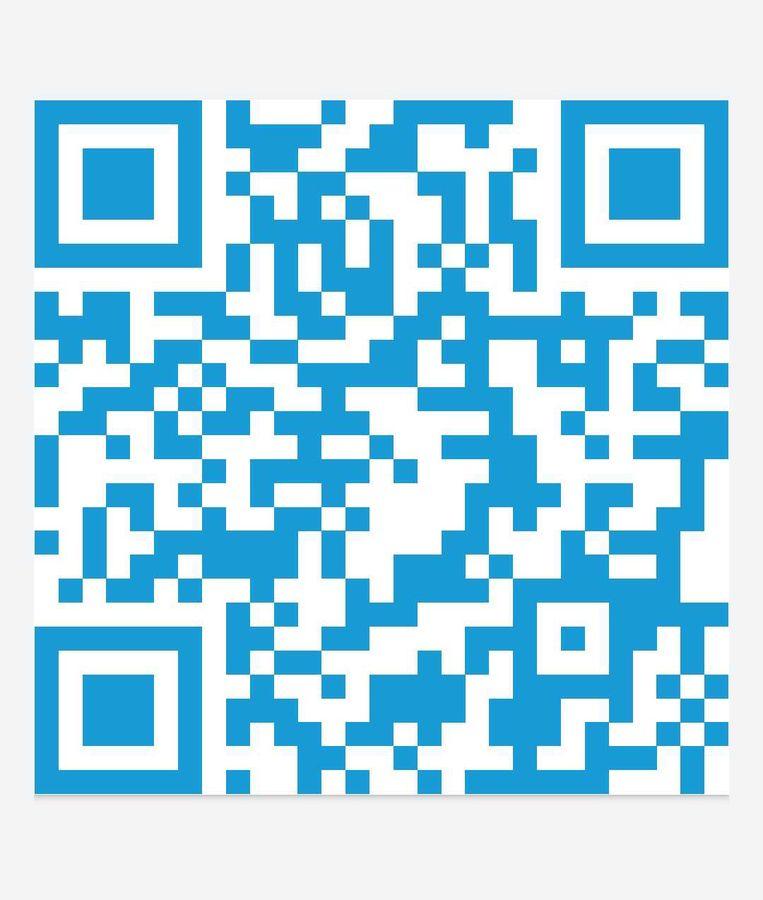 QR-code voor streaming-app Radio Winokio