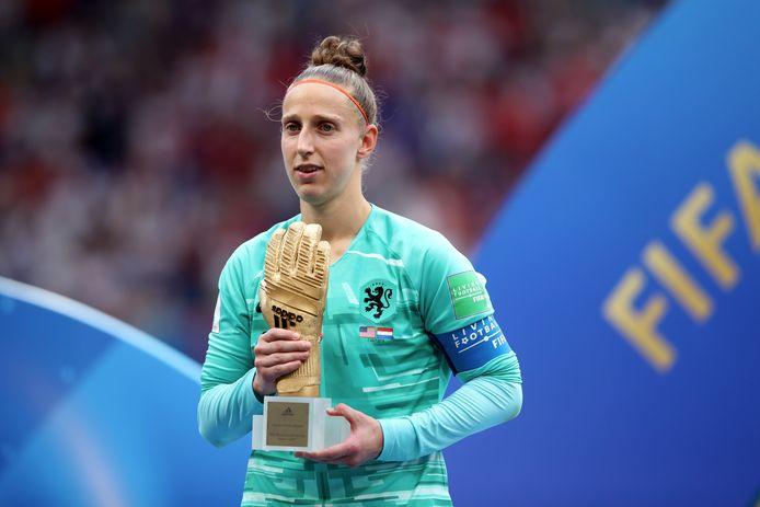 Sari van Veenendaal werd ook al verkozen tot beste keeper op het WK.