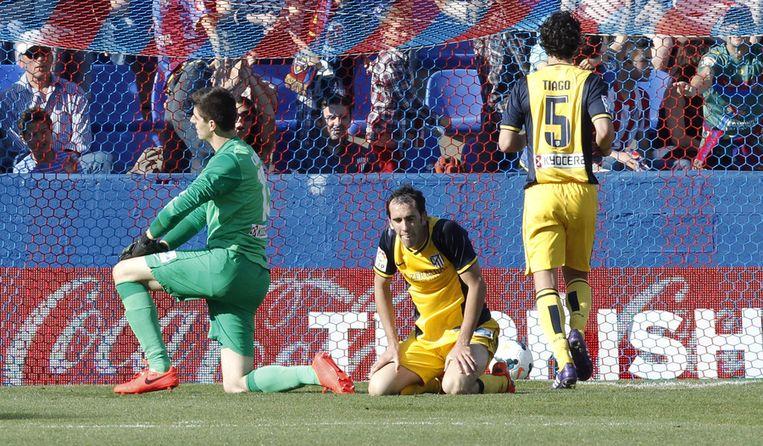 Courtois had nauwelijks werk, maar moest zich wel twee keer omdraaien in het Ciutat de Valencia.