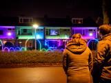 Kerstshow in Eindhovense voortuin