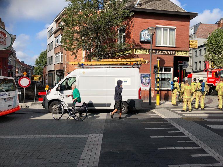 Het gaslek ontstond tijdens wegenwerken in de Molenstraat vlakbij de Zeshoek in het centrum van Turnhout