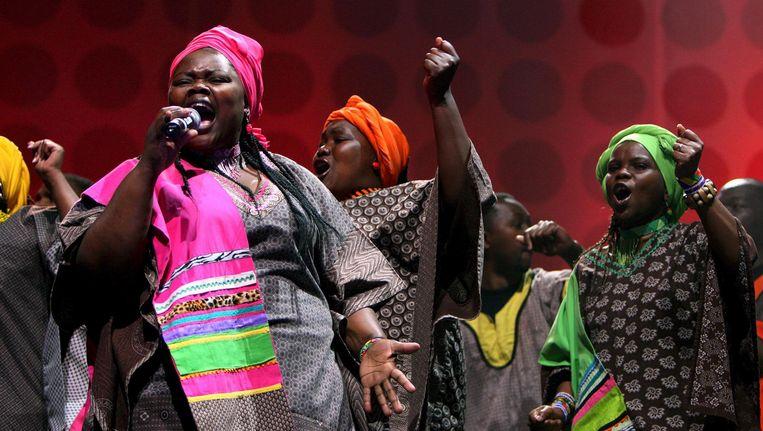 Het koor werkte samen met grote artiesten zoals U2, Stevie Wonder en Aretha Franklin, en heeft meerdere Grammy Awards op haar naam staan. Beeld anp