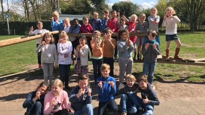 Basisschool Kantelberg zamelt 577 euro aan rosse centjes in