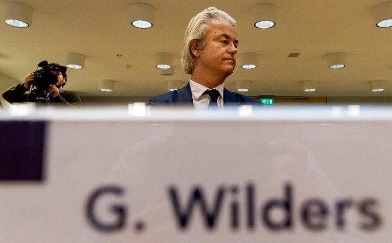 Geert Wilders in september in het Justitieel Complex Schiphol. Beeld anp