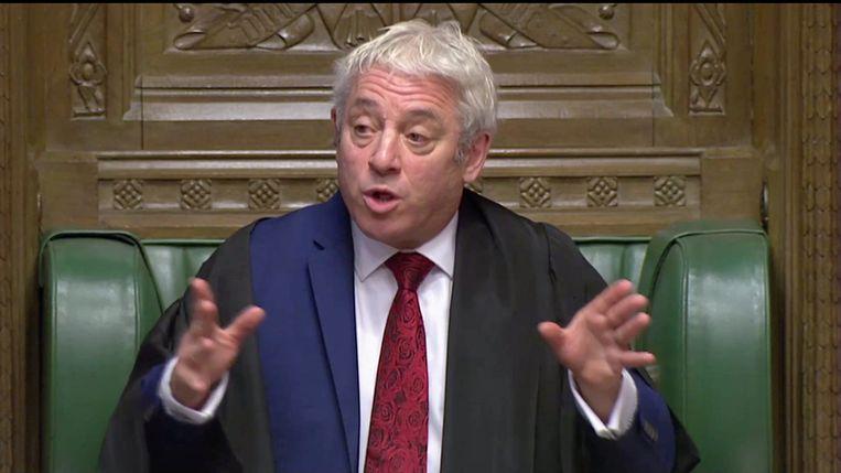 Voorzitter John Bercow heeft werk om de leden van het parlement onder controle te houden.