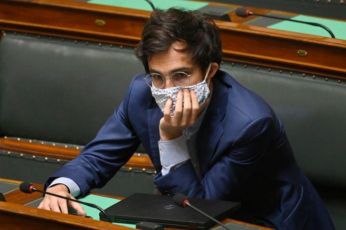 Kristof Calvo in de Kamer.