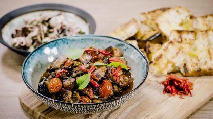 Loïc maakt Siciliaanse caponata met aubergine