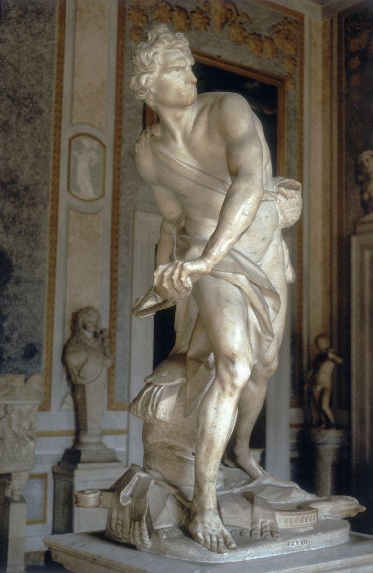 The David, door Gian Lorenzo Bernini Beeld Galleria Borghese Rome