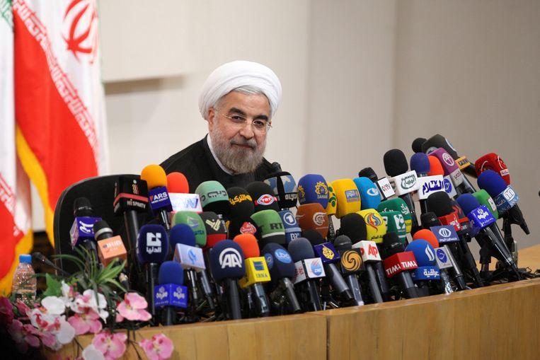 De Iraanse president Hasan Rouhani Beeld Reuters