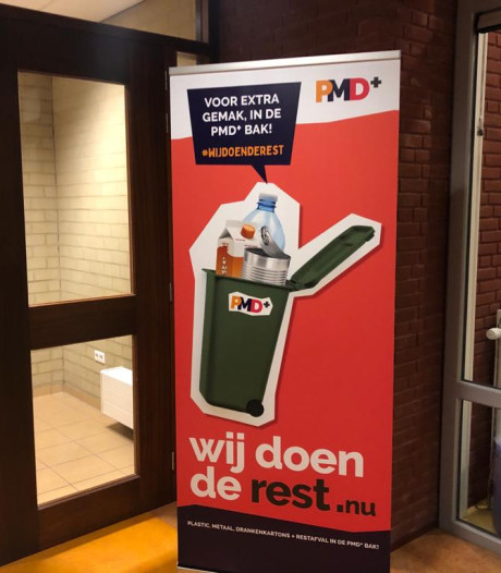 Restcontainer kan in vier gemeenten alvast gevuld met plastic, maar mag pas na jaarwisseling aan de straat