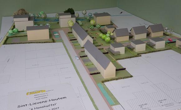 De plannen van de twee projectontwikkelaars voor het bouwproject in de Beekvallei.