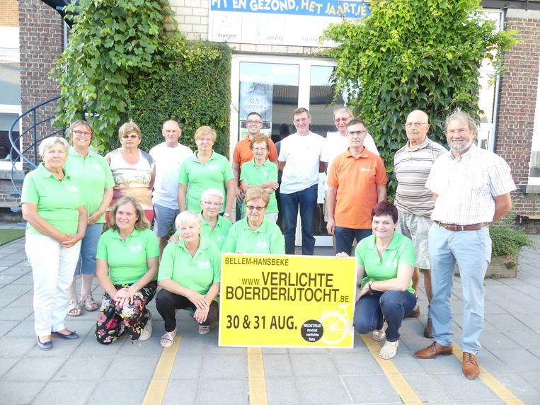 De organisatoren van de Verlichte Boerderijtocht.