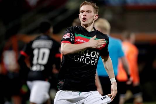 Jellert van Landschoot heeft gescoord tegen FC Volendam. Tegen Almere City valt de Belgische middenvelder van NEC buiten de basiself.