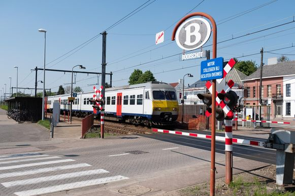 Het station van Booischot, waar het ongeval zich afspeelde.