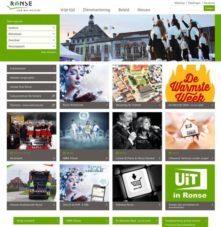 Een beeld van de nieuwe site.