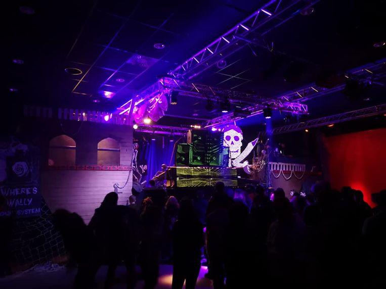 Een foto van het feestje in de Zappa.