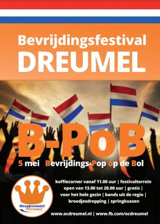 Het affiche van B-PoB in Dreumel