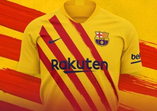 Het nieuwe uitshirt van Barça.