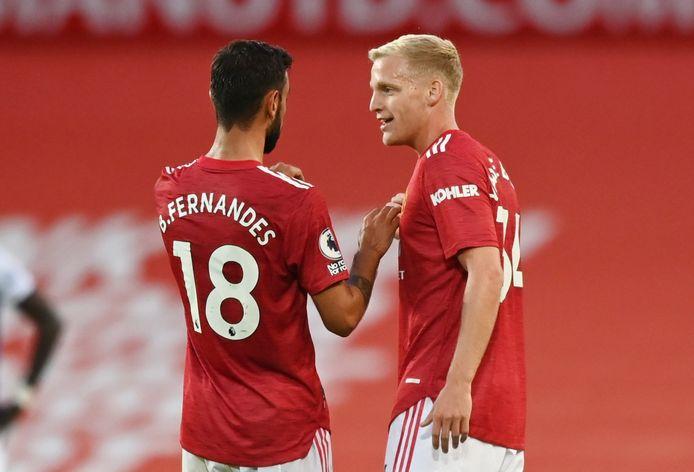 Bruno Fernandes en Donny van de Beek.