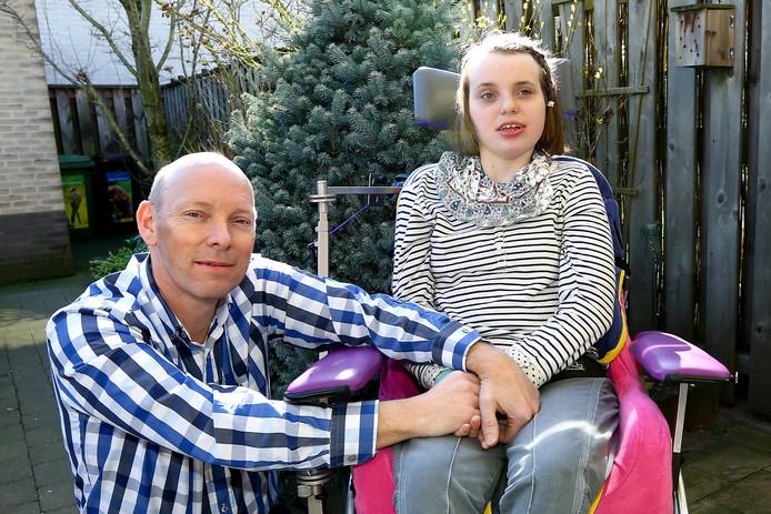 Harry van de Kraats met zijn dochter Nathalie.