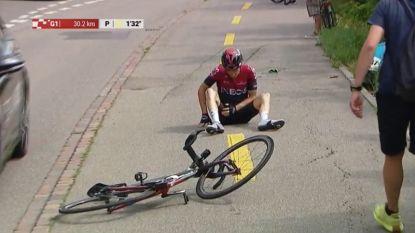 Opnieuw kopzorgen bij Team Ineos: Thomas verlaat Ronde van Zwitserland na zware val