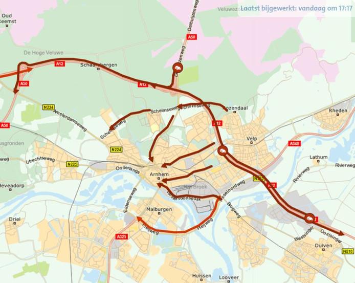 File rond Arnhem op donderdag 22 augustus 2019.