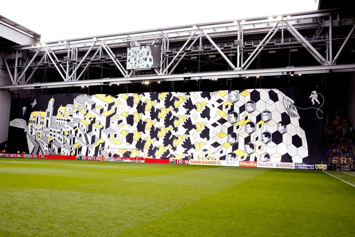 Het spandoek van Vitesse.