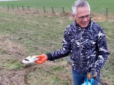 'Polderstofzuiger' Jan Meeuwsen raapt steeds meer zwerfvuil op