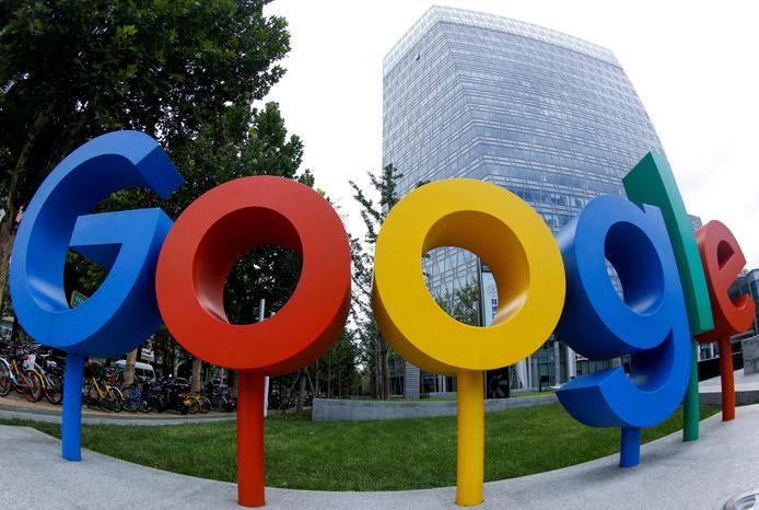 Het logo van Google voor het Chinese hoofdkantoor in Peking.