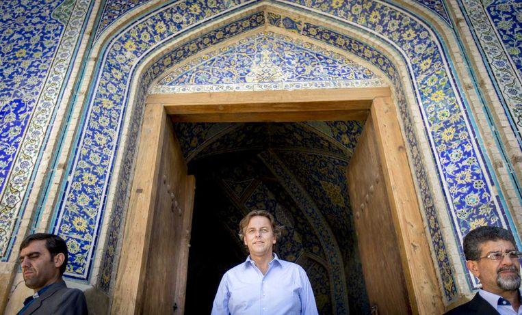 Minister van Buitenlandse Zaken Bert Koenders vandaag op het Plein van de Emam in de historische stad Isfahan in Iran. Beeld anp